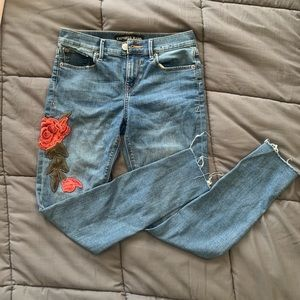 Express ankle legging midrise jeans